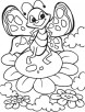 Butterfly in dancing mood coloring pages