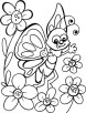 Butterfly chats with truest friends coloring pages