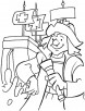 Columbus with torch coloring page