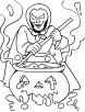 Halloween is magical night for make believe coloring pages