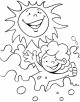 Summer Coloring Page
