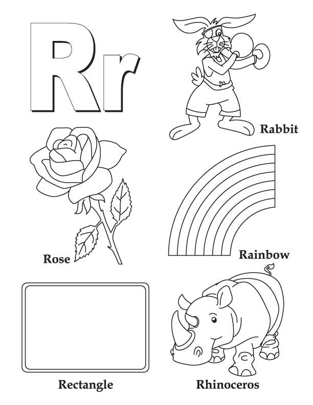a to z coloring pages - my a to z coloring book letter r coloring page download