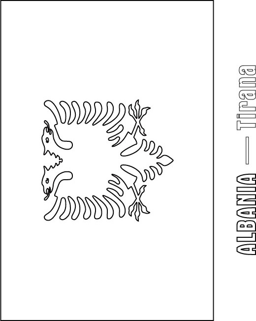 Albania flag coloring page download free albania flag for Albanian flag coloring page