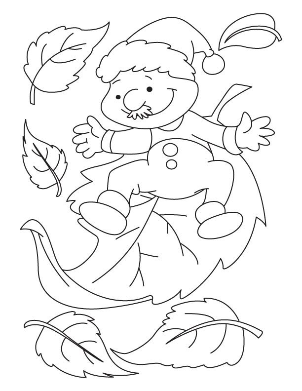 Man with leaves coloring pages