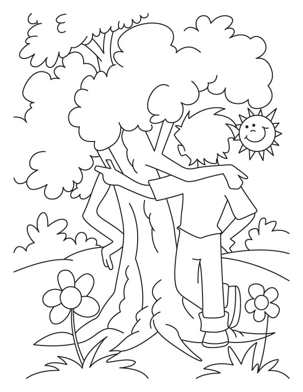 Arbor Day Coloring Pages Kidsuki
