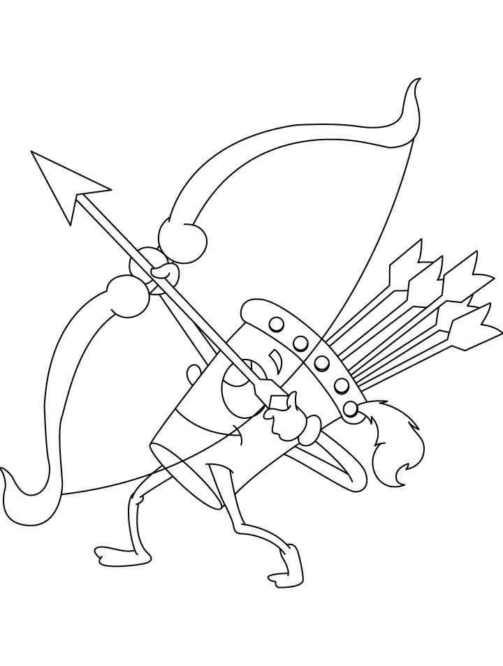 archery coloring pages free - photo#3
