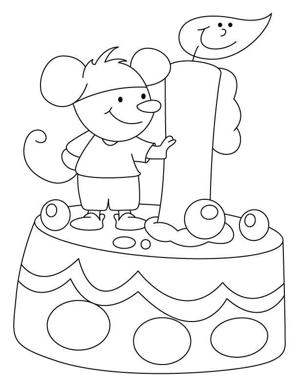 I will eat the whole birthday cake coloring pages