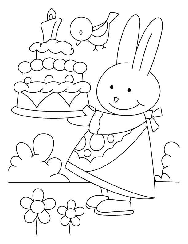 Today is my birthday coloring pages