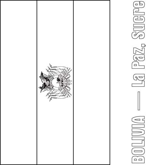 Bolivia Flag Coloring Page Download Free Bolivia Flag