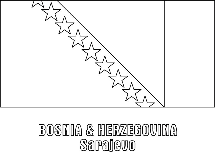 Coloring Pages Of Bosnia Flag Jamaican Page