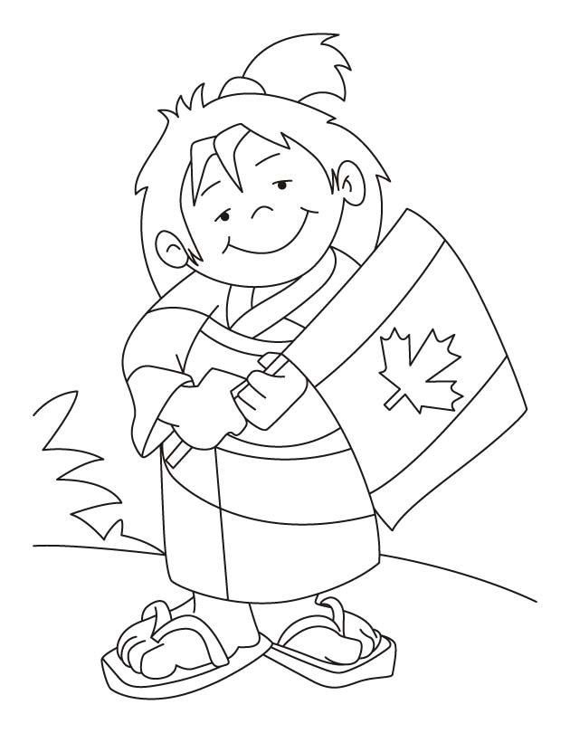 Canada, the most free country in the world coloring pages