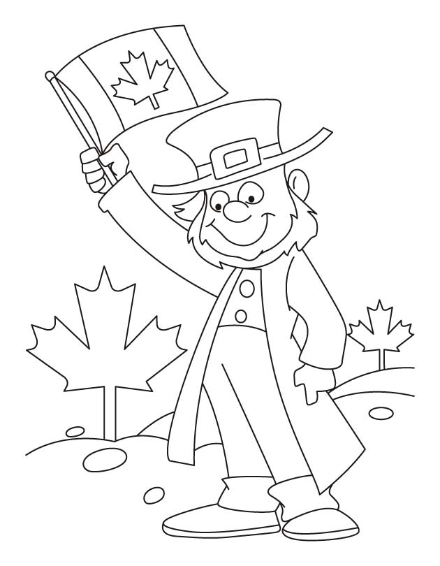 Feel the grandness of Canada coloring pages