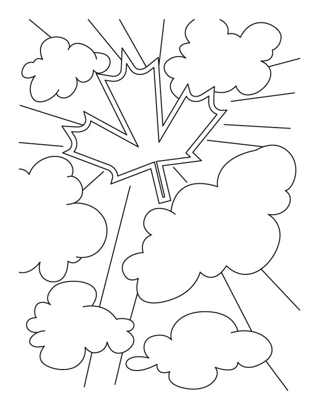 Celebrate Canada Day with big bang coloring pages