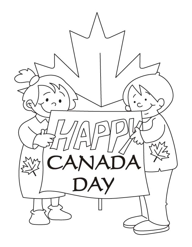 Our hopes are high Happy Canada day coloring pages