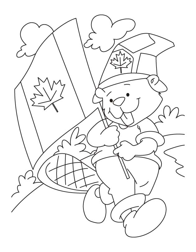Canada, a beautiful countryside coloring pages