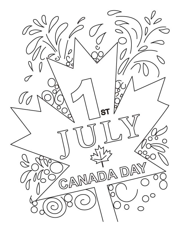 Canada known for its peaceful people coloring pages