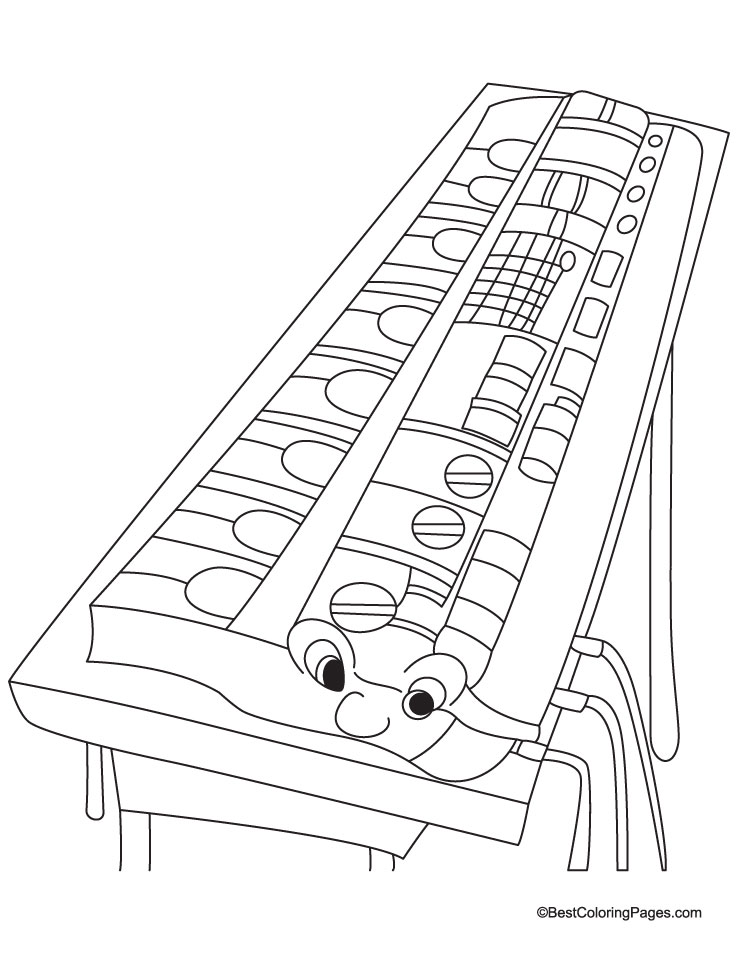 Mouth Organ Coloring Pages