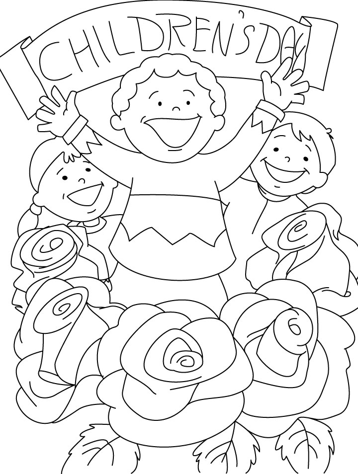 Coloring Pages For Children S Day : Childrens day coloring pages download free