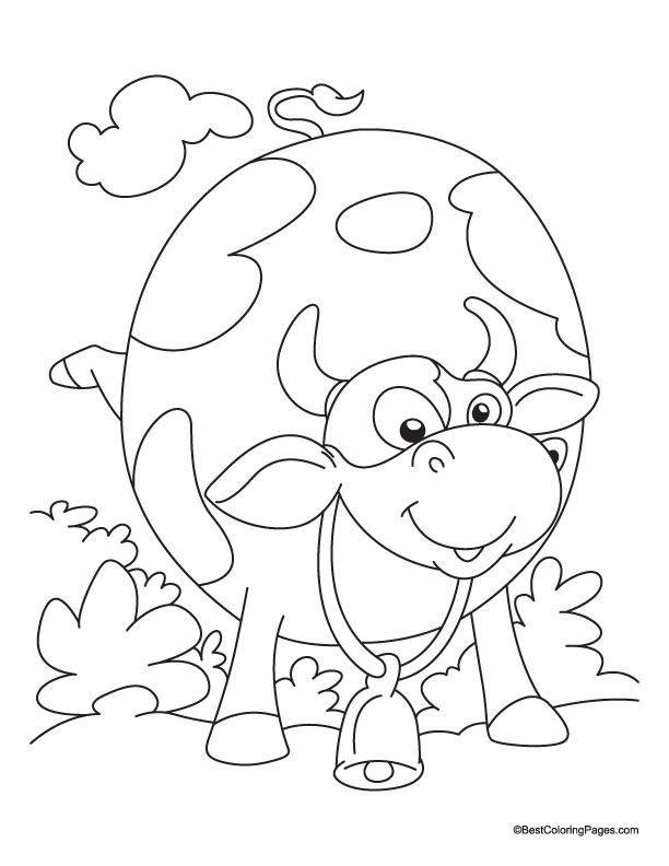 grinning cow coloring pages
