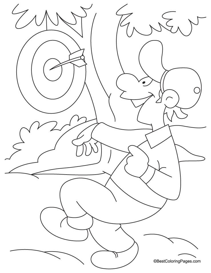 Dart Board Coloring Page Download Free Dart Board