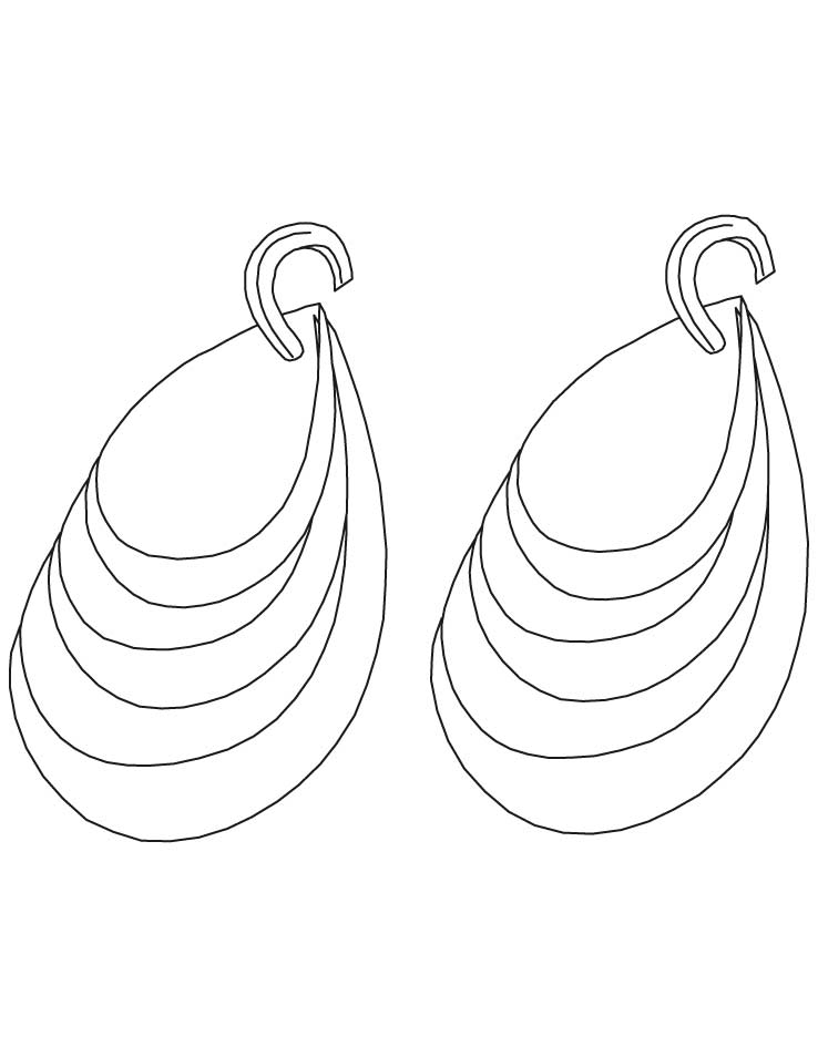 diamond earring coloring pages download free diamond