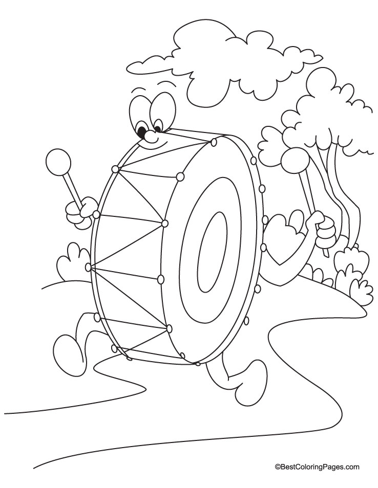 Drum coloring page download free drum coloring page for for Drum coloring pages