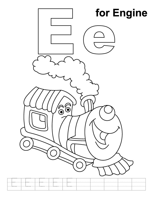 e coloring book pages - photo#29