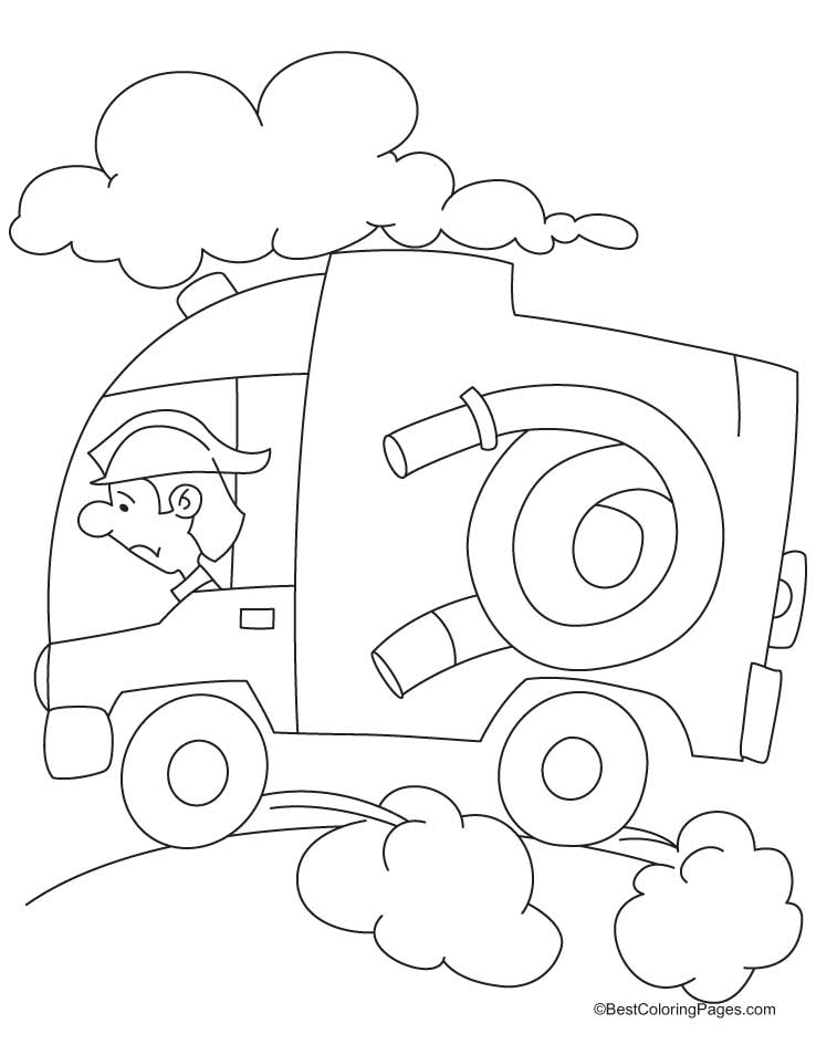 Fire engine coloring pages mazes fire free engine image for Fire coloring page