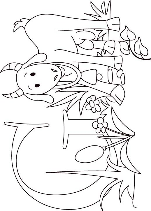 The gallery for goat coloring pages for kids for G coloring pages for kids