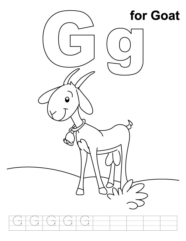 g for goat coloring pages - photo #2