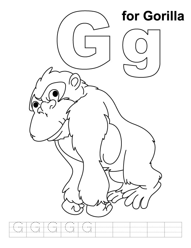 g coloring pages - photo #16