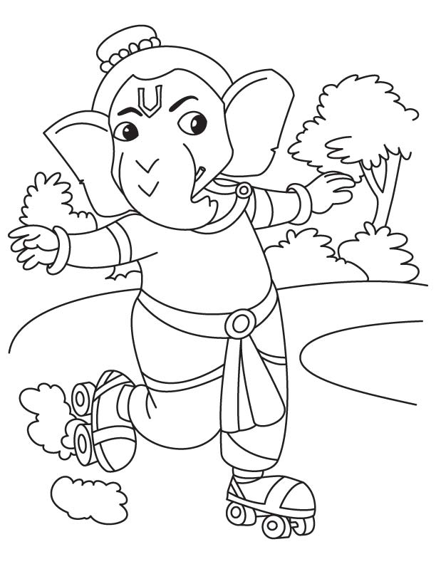 Ganesha pictures for colouring