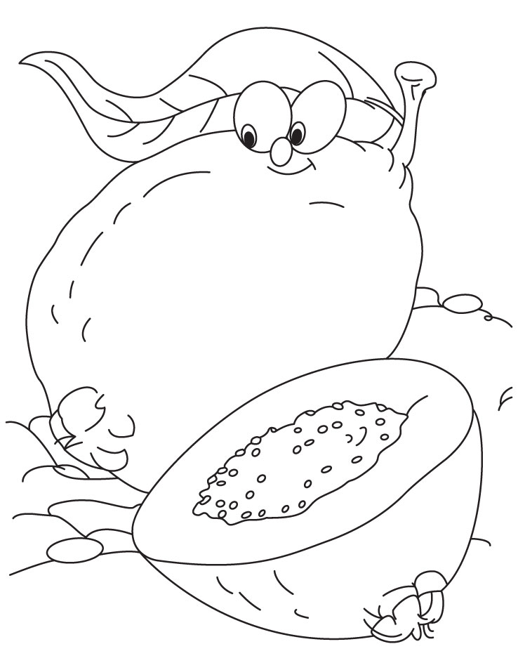 Guava Coloring Page Download