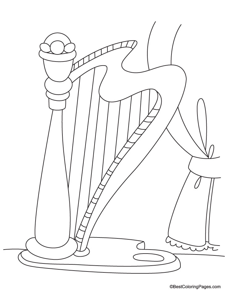 harp coloring pages - photo#10
