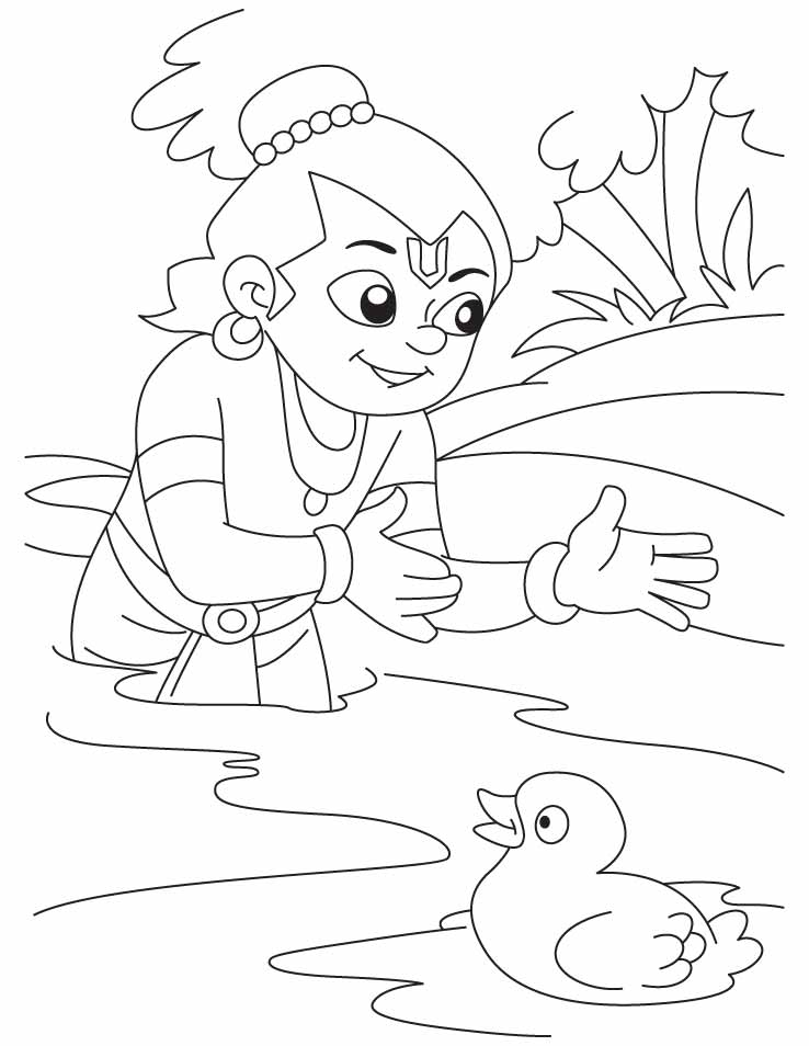 Baby Krishna Coloring Pages Www Imgkid Com The Image Lord Krishna Coloring Pages