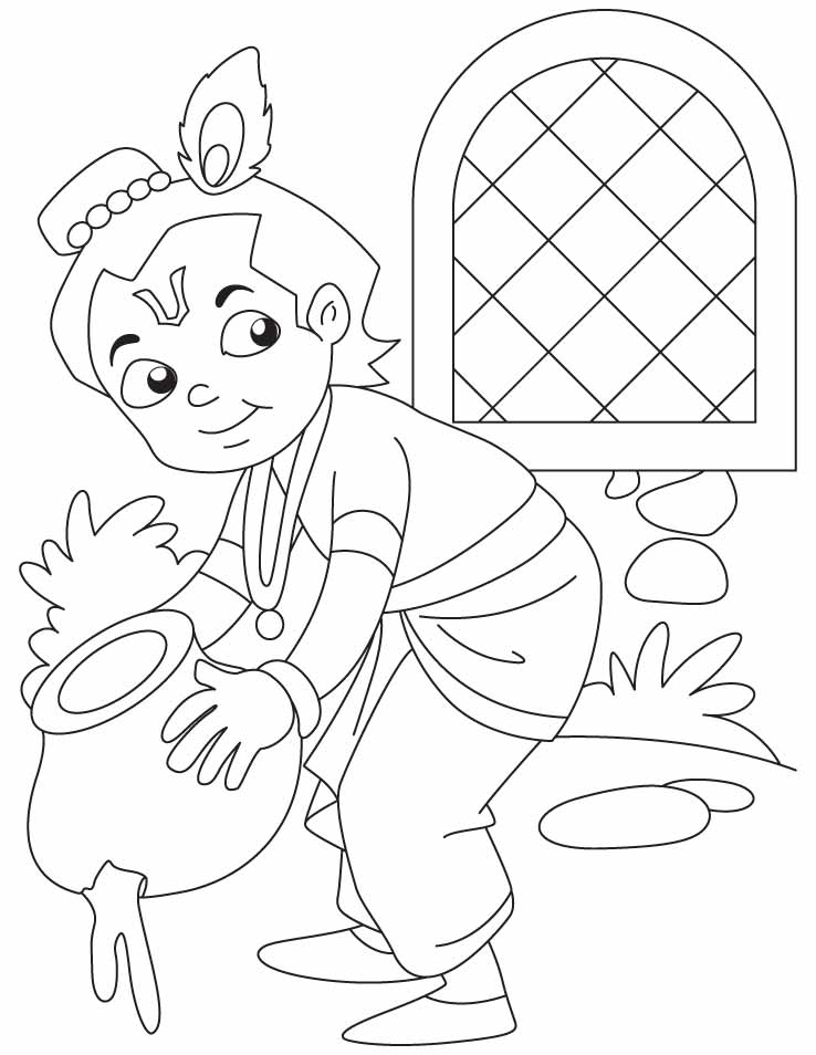 Baby krishna drawings auto design tech for Coloring pages of krishna