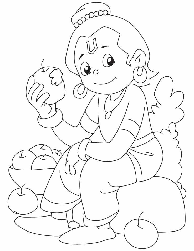 krishna coloring pages the gallery for lord krishna baby drawings for kids