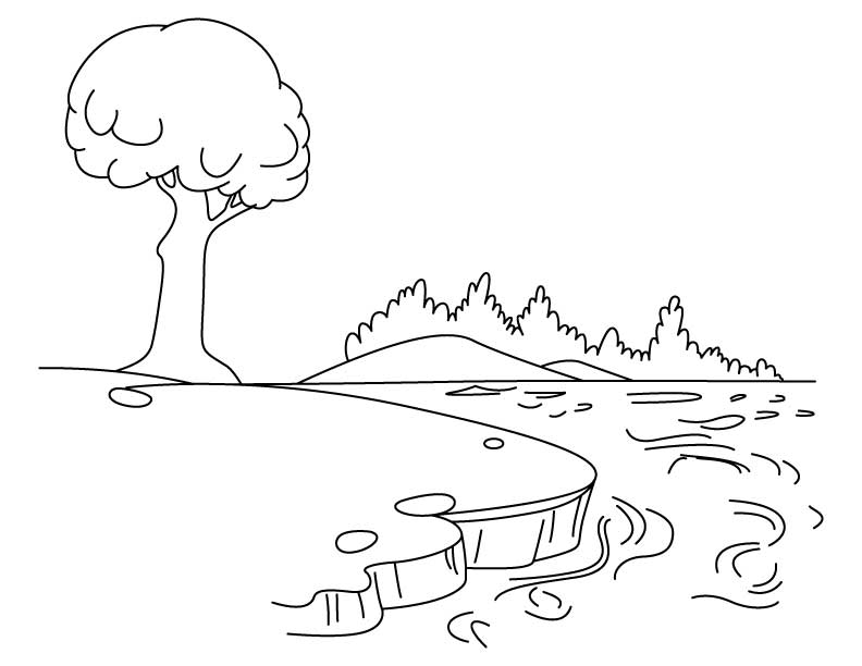 coloring pages on lake - photo#4