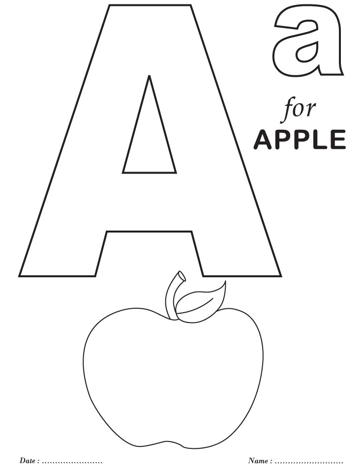 Printables Alphabet A Coloring Sheets