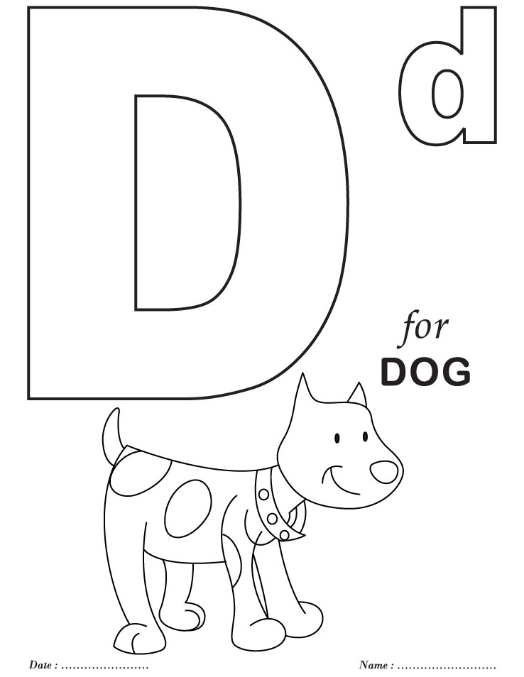 Printables alphabet d coloring sheets download free for Free alphabet coloring pages for toddlers