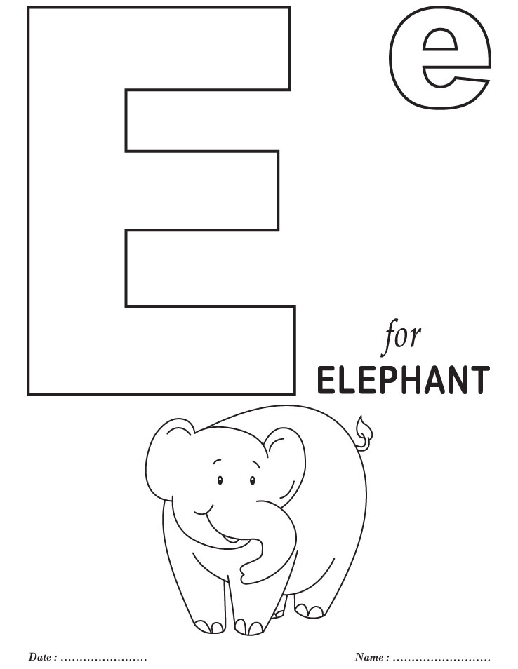 e coloring pages for kids - photo #11