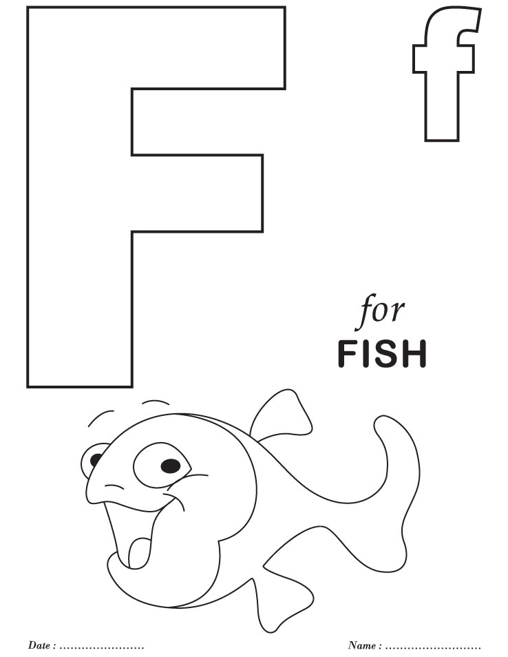 f letter coloring pages - photo #11