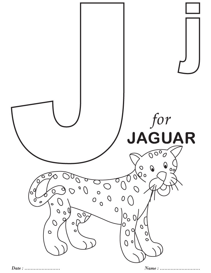 Printables alphabet j coloring sheets download free for Free alphabet coloring pages for toddlers