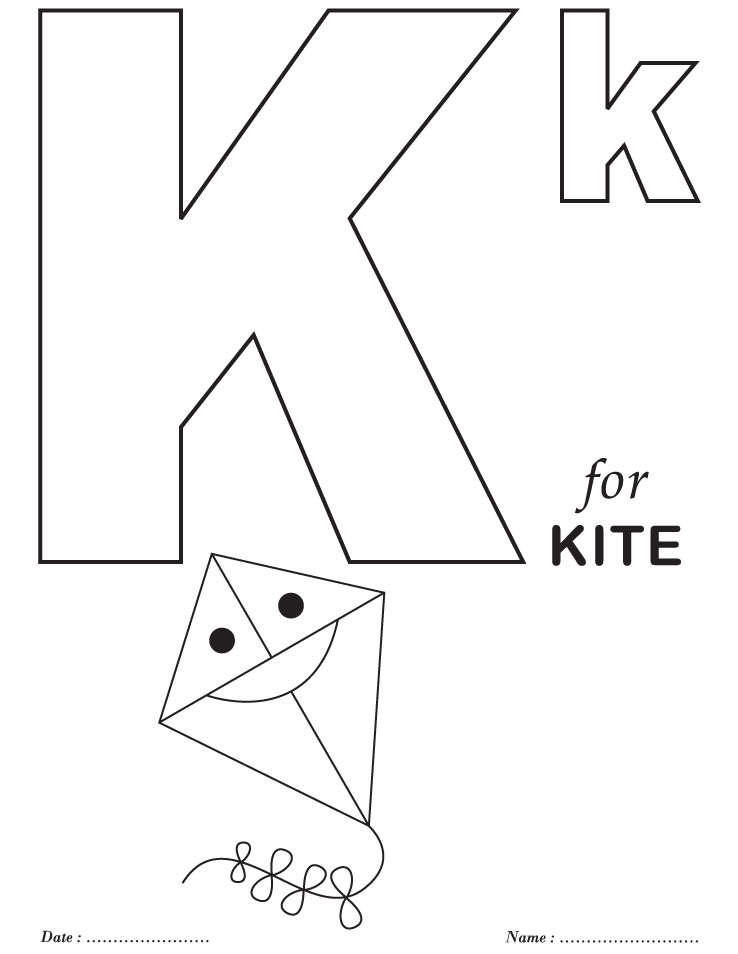 Printables alphabet k coloring sheets download free for Free printable letter coloring pages