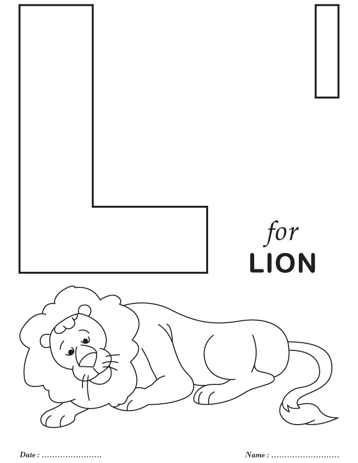 l alphabet coloring pages - photo #1