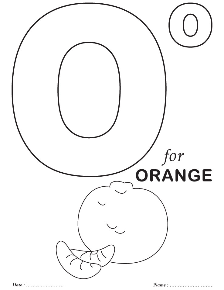 o coloring pages - photo #15