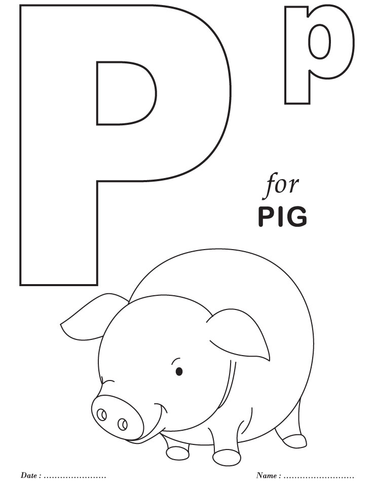 Printables alphabet p coloring sheets download free for Abc coloring pages for kids printable