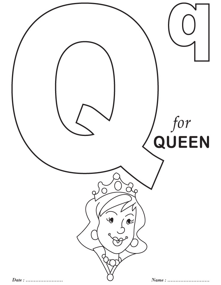 Agile image within letter q printable