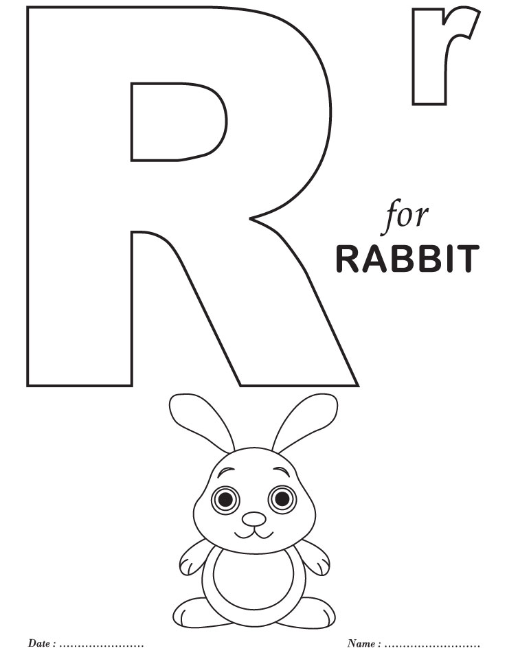 letter r coloring pages preschool - photo#8