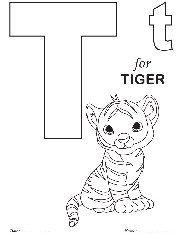 t letters coloring pages to print - photo #1